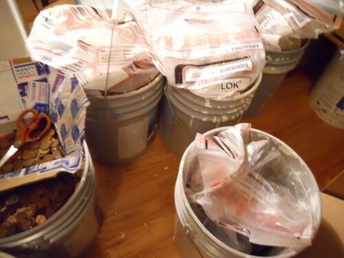 8 Machine Sorted//Sealed Bank Bags= $400 FV US Copper Pennies Pre 1982 272 LBS