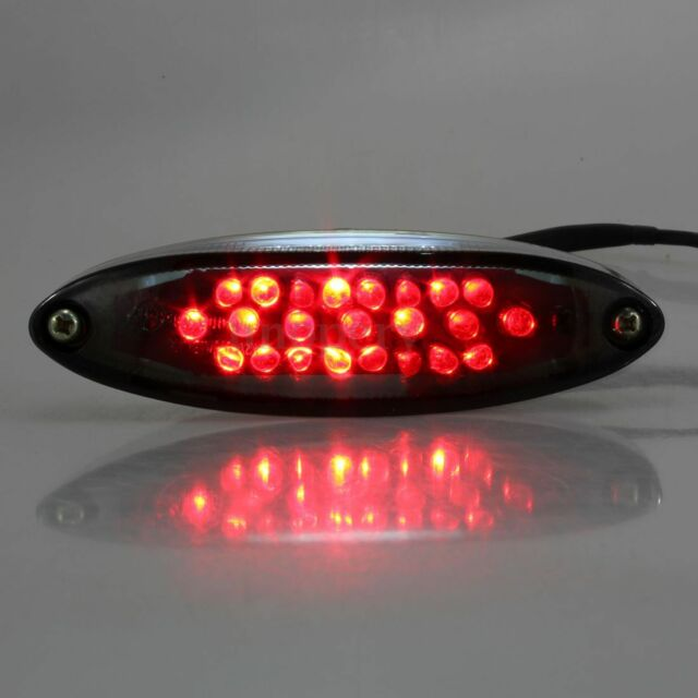 UNIVERSAL MOTORCYCLE BIKE LED REAR TAIL STOP LICENSE BRAKE NUMBER PLATE LIGHT