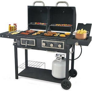 Charmant Image Is Loading Backyard Grill Dual Gas Charcoal Grill Burner BBQ