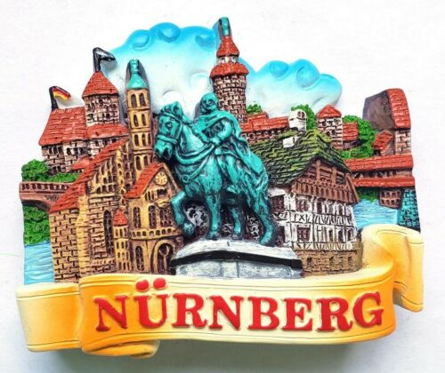 Nürnberg Magnet Poly Glanzlack Souvenir Germany 6,5 cm Neu
