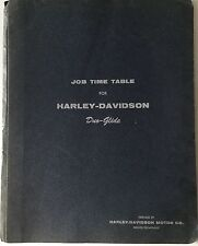 Vintage 1961 HARLEY DAVIDSON JOB TIME TABLE FOR DUO-GLIDE