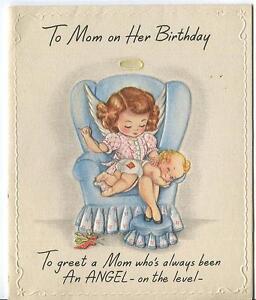 Vintage angel mom sews blonde baby blue eyes devil happy birthday image is loading vintage angel mom sews blonde baby blue eyes m4hsunfo