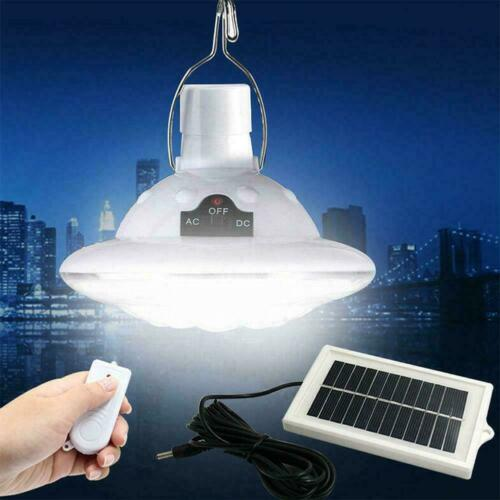 HOT Outdoor//Indoor Solar Lamp Hooking Lighting Remotes LED 22 Control R4E3