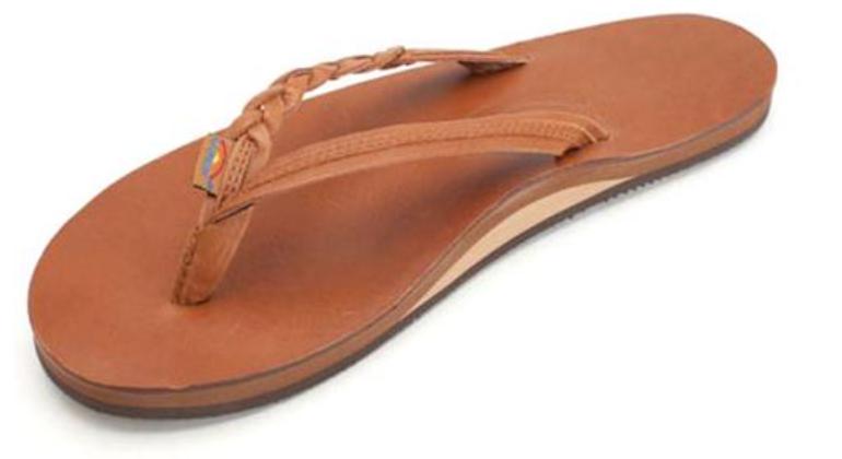 Rainbow Sandals 301 altsb Coqueta Braidy bronceado de una sola capa mujeres Tallas S-L11 NEW