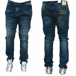 Neue Herren Biker Jeans destroyed frayed stonewashed Pant Hose 0014 PA