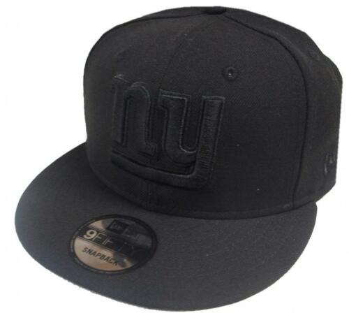 New Era NFL New York Giants Black on Black Snapback Cap 9fifty Limited Edition