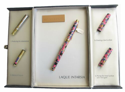 Elysee Limited Edition Lacquer Intarsia Fountain Pen 18K X Fine Pt New In Box