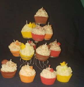 Details About Cupcake Candles Handmade Soy Scented Home Decor