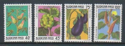 Mnh Sg 1085/8 1994 Vegetables Set Burkina Faso