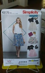 Oop-Simplicity-Sew-with-Us-8176-misses-gathered-skirt-3-lengths-sz-14-22-NEW