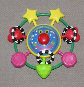 Manhattan Toy Soccer Winkel Rattle and Sensory Teether Baby Toy