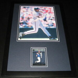 Jermaine-Dye-Signed-Framed-11x17-Rookie-Card-amp-Photo-Display-Braves-White-Sox