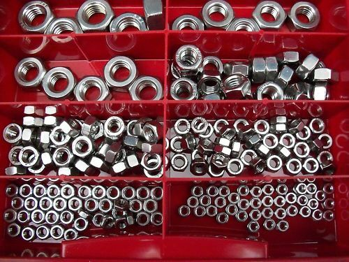 200 Pieces Assortment Flange nuts DIN 6923 Stainless steel V2A M3-M12