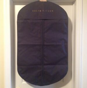 823c8e4be130 100% Authentic Ralph Lauren Garment Bag Navy Blue With Gold Letters ...