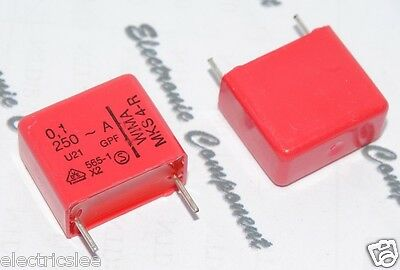 10pcs 250vac 20 Pitch 15mm Class X2 Capacitor 0 1µf 100nf Wima Mks4 R 0 1uf