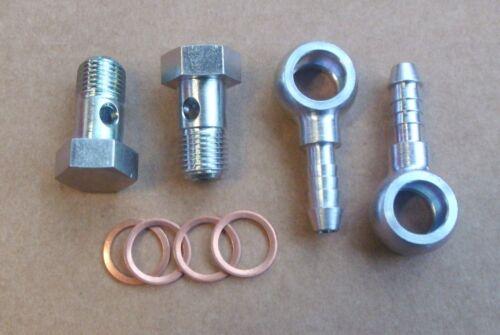 Hohlschrauben M14 x 1,5 Ring-Schlauchnippel DN 8//6 Kupferdichtringe