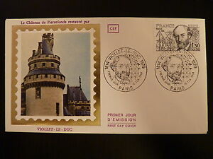 2019 DernièRe Conception France Premier Jour Fdc Yvert 2095 Chateau De Pierrefonds 1,30+0,30f Paris 1980 AgréAble Au Palais