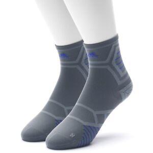 39dac0394 Adidas ENERGY RUNNING Mid Crew Socks Size Men Large Gray CLIMALITE 6 ...