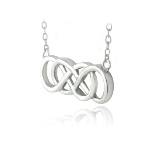 "18/"" 925 Sterling Silver Double Infinity Collier"