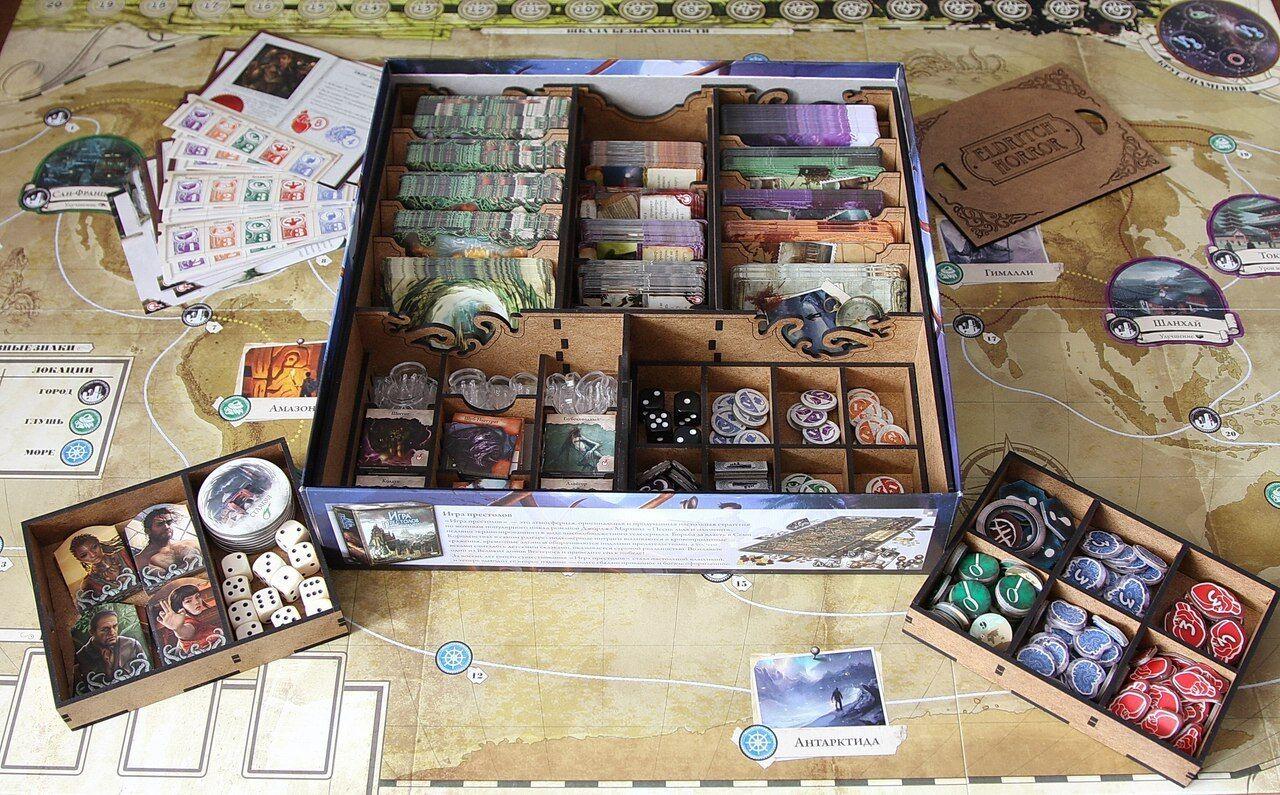 Box Organizer (second version)  for Board game Eldritch Horror  Organiser FFG