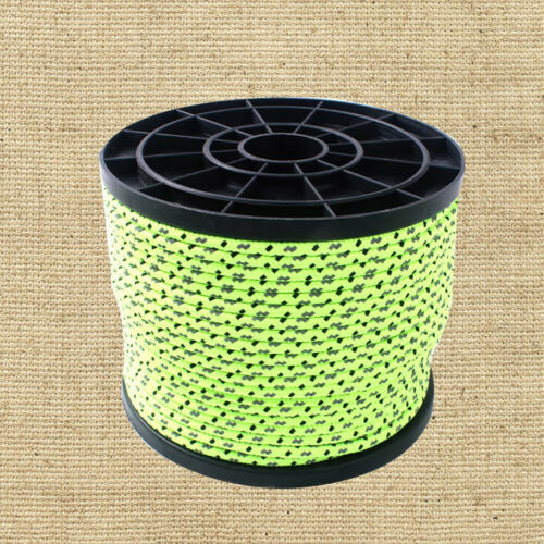 50M 4mm Reflective Guy Line Cord Outdoor Sport Camping Canopy Tent Paracord Rope