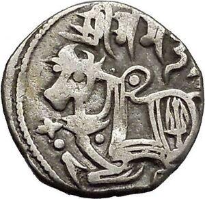 850AD-Medieval-India-Shahis-039-Samanta-Deva-034-Authentic-Ancient-Silver-Coin-i45007