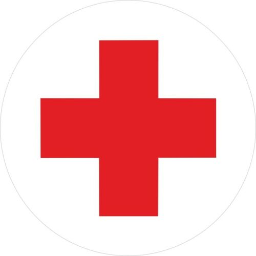 Rotes Kreuz. Medizin. Aufkleber.Erstehilfe ca 19,8 cm