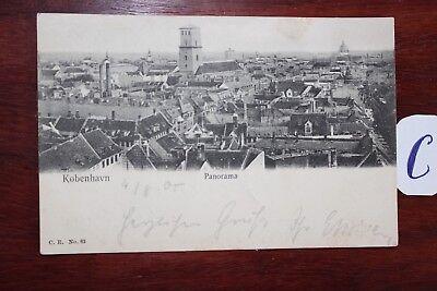 Postkarte Ansichtskarte Schweden Lithografie København Panorama HüBsch Und Bunt