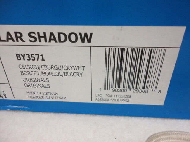 Adidas Tubular Shadow,  C Burgundy   CRY CRY CRY White, BY3571, Size 13 de285c