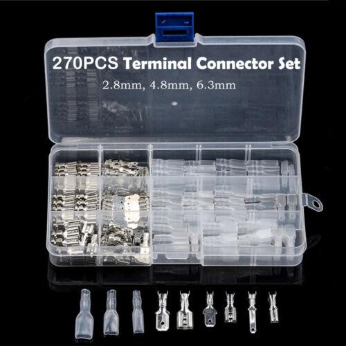 270x Kabelschuhe Auto Elektro Steckverbindung Funkterminal 2.8mm 4.8mm 6.3mm Neu