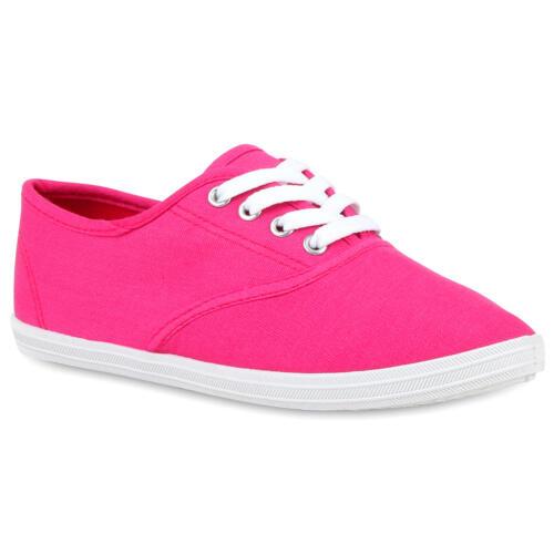 Damen Herren Sneakers Freizeit Schuhe Stoffschuhe 74603 Mode