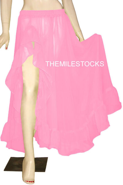TMS Red Black 8 Petal Skirt Belly Dance Panel 25Color