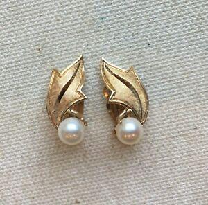 1 12 Swirl Drop Earrings Real 14K Two Tone Yellow Gold 1.7gr