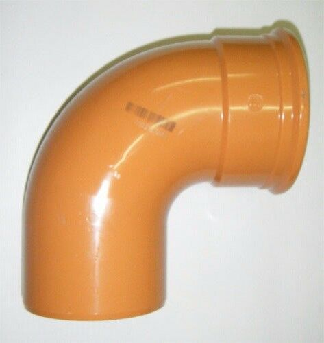 Pipelife Underground Drainage 110mm uPVC 90deg Single Socket Bend