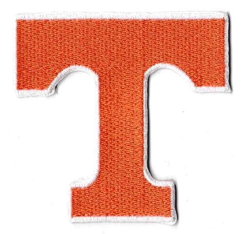 Flicken Wappen Flicken Buchstabe T Orange Wärmeklebend Flicken