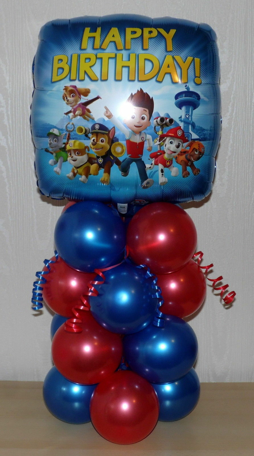 PAW PATROL NICKELODEON FOIL BALLOON DISPLAY TABLE CENTREPIECE DECORATION