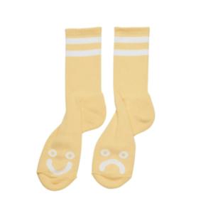 Heureux Triste Chaussettes-jaune clair Genuine Polar Skate Co