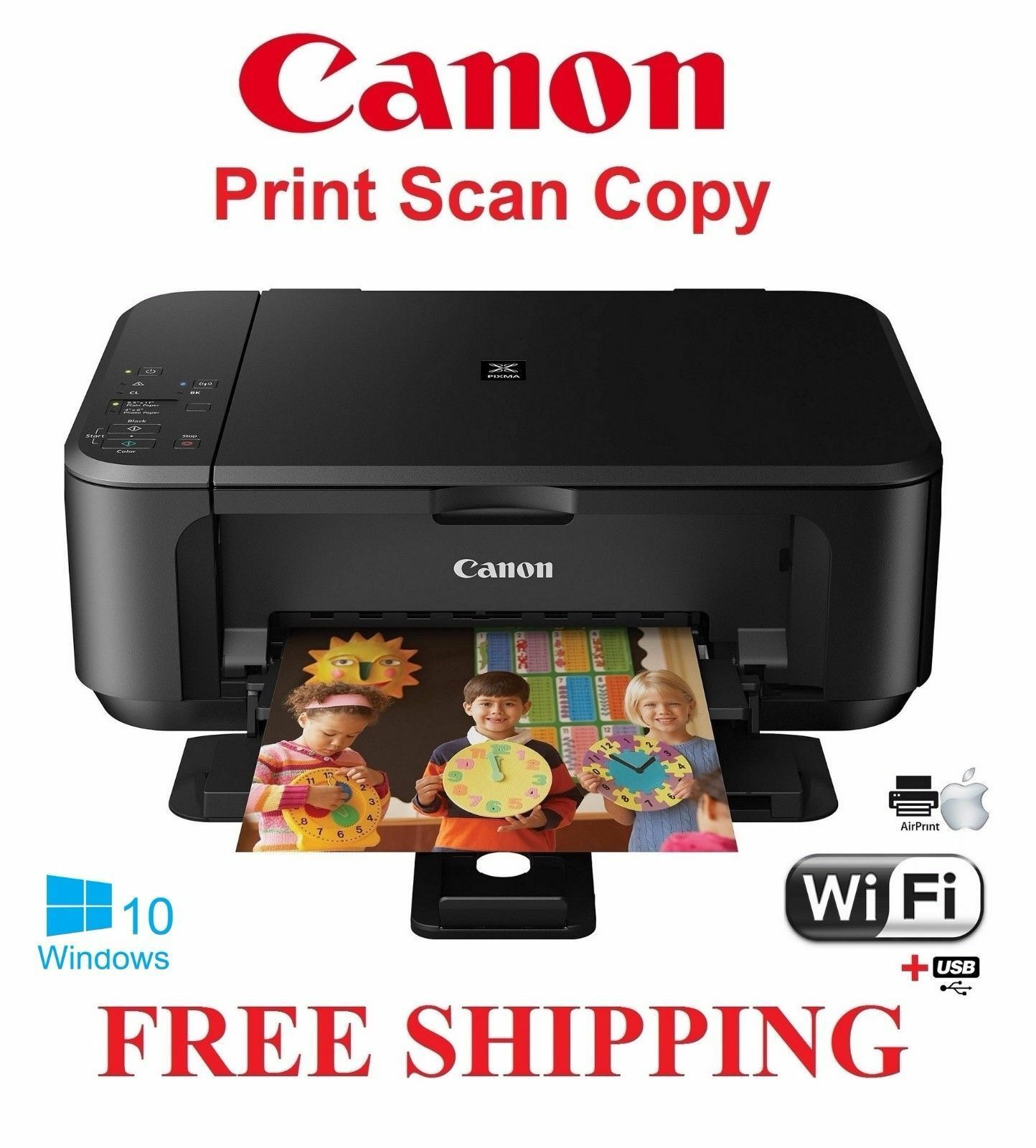 Canon Pixma Mg3520 All In One Inkjet Printer Ebay