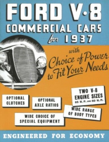 FORD 1937 TRUCK Sales Brochure 37 Pick Up