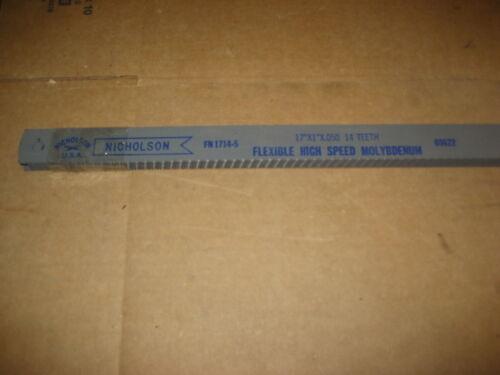 """D3257-2 NICHOLSON FN1714-5 17/"""" 14T POWER SAW BLADES"""