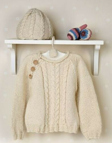 C63 4 yrs KNITTING PATTERN FOR JUMPER /& HAT.1mth