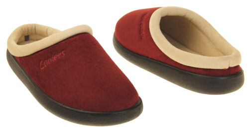 Womens Coolers Suede Effect Outdoor Sole Mules Slippers Size 4 5 6 7 8