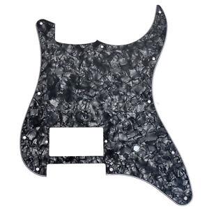 Single-Humbucker-Guitar-Pickguard-For-Fender-Strat-Parts-Black-Pearl-11-Hole