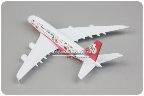 1:500 Scale EVA AIR AIRBUS A380 Passenger Airplane Plane Diecast Aircraft Model