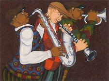"""CUBAN ART**Mario Ayra**Instrumentos de viento y latón**ORIGINAL OIL 29x39"""""""