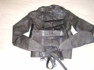 Straight jacket, Black full costume escapology suit, Leather Size ...