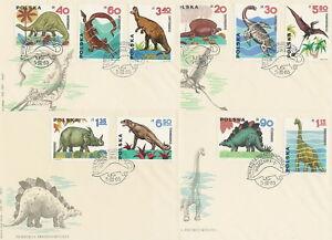 Poland FDC (Mi. 1570-79) Prehistoric animals #4 - Bystra Slaska, Polska - Poland FDC (Mi. 1570-79) Prehistoric animals #4 - Bystra Slaska, Polska
