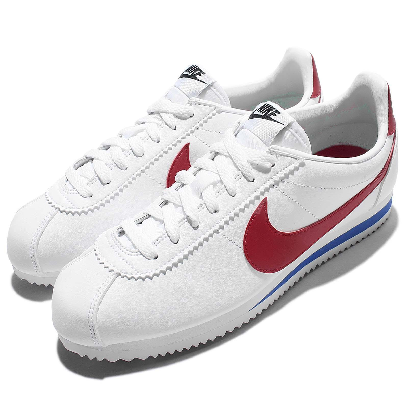 Wmns Nike Classic Cortez Leather OG Forrest Gum Blanc Rouge Women Chaussures 807471-103