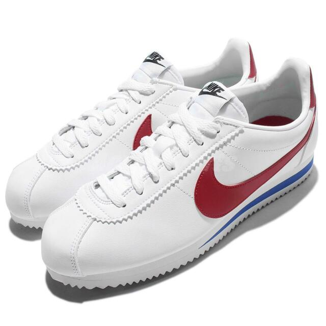 Wmns Nike Classic Cortez Leather OG Forrest Gum White Red Women Shoes  807471-103 e643f35c5202