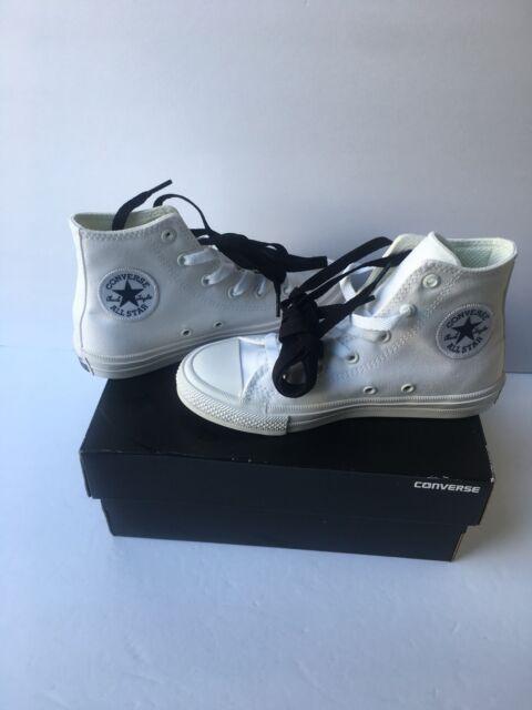 72ac5c1554c5 Converse Youth Kids Chuck Taylor Core Hi Top Optical White Shoes Size 1